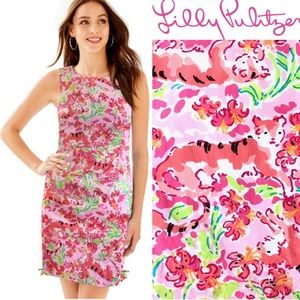 Lilly Pulitzer Call Me Kitty Cat Delia Shift Dress